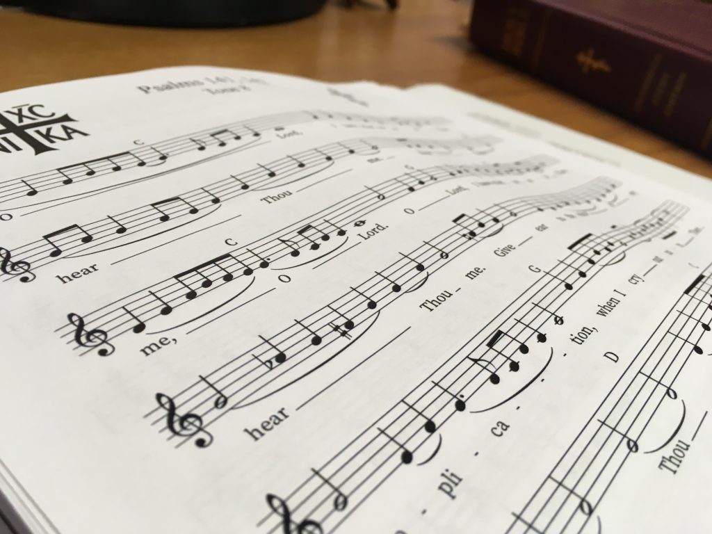 A picture of sheet music